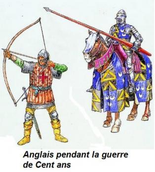 soldats anglais lors de la guerre de Cent ans