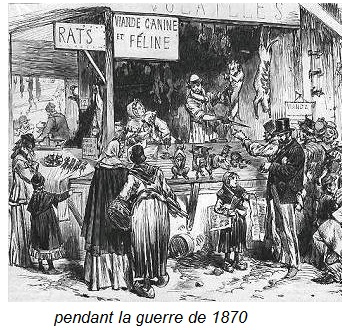 rationnement pendant la guerre de 1870