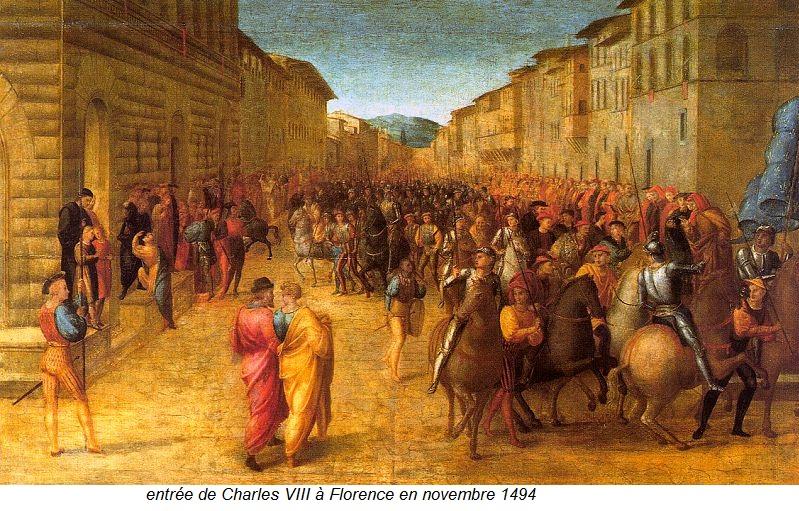 entrée de Charles VIII à Florence