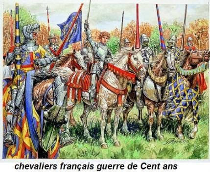 soldats français lors de la guerre de Cent ans