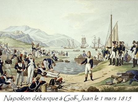 Napoléon débarque à Golf-Juan le 1 mars 1815