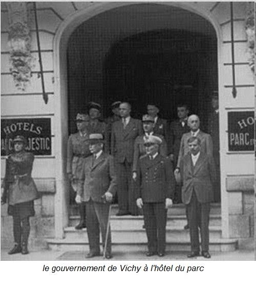 le gouvernement à l'hôtel du parc à Vichy