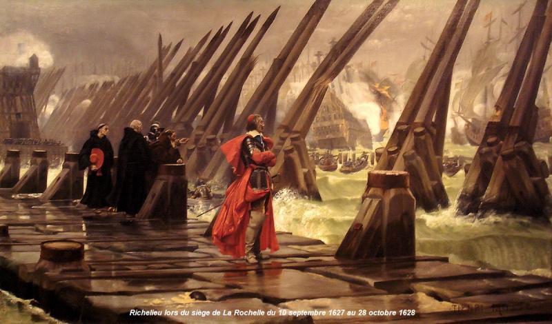 Richelieu au siège de La Rochelle