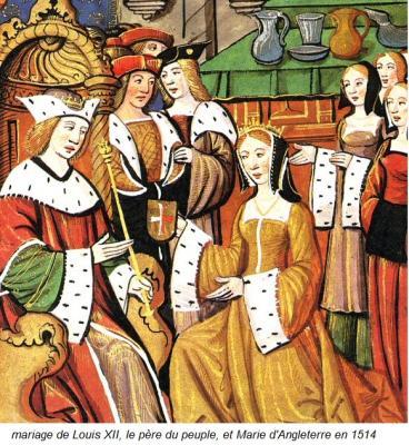 mariage de Louis XII et Marie d'Angleterre