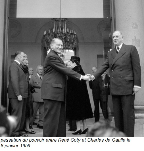 passation du pouvoir entre Coty et de Gaulle