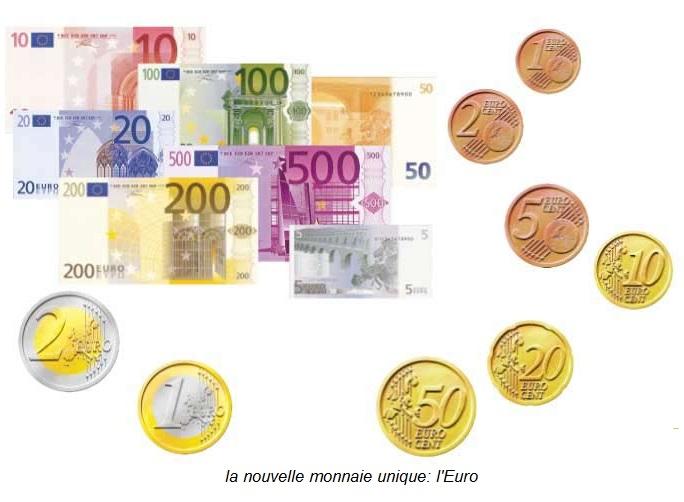 la monnaie unique: l'Euro