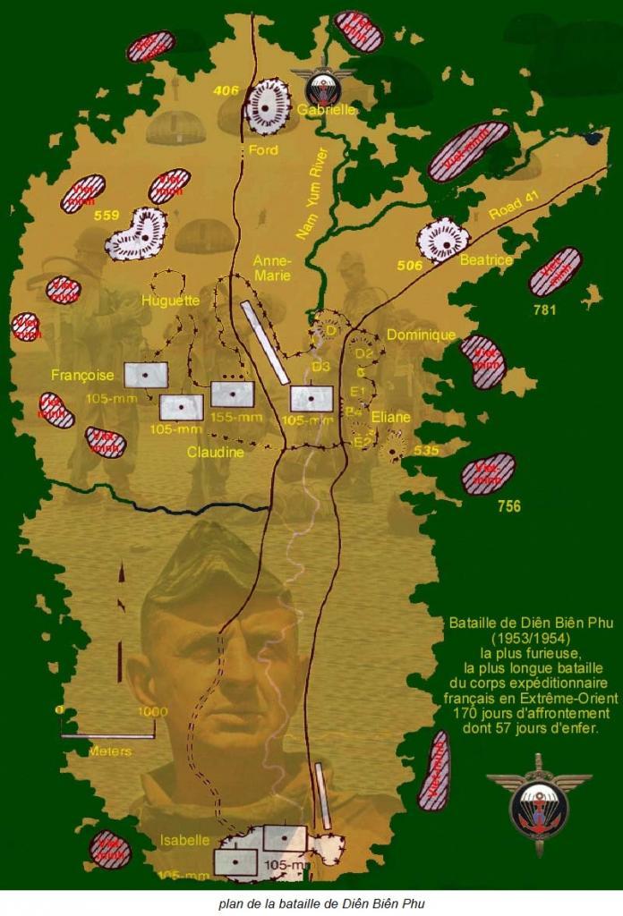 plan de la bataille de Diên Biên Phu