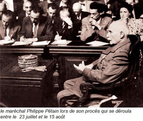 le procès du maréchal Pétain