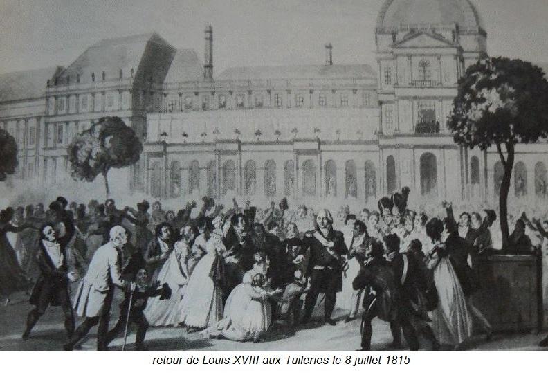retour de Louis XVIII aux Tuilerie le 8 juillet 1815